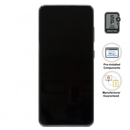 Galaxy S20 LCD Assembly With Frame (Pre-installed Small Components) - Cosmic Gray (OEM Grade)